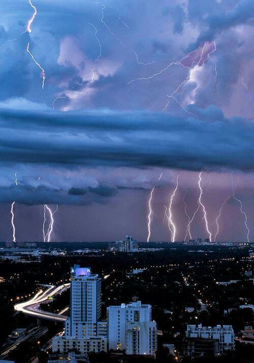 Lightning storm, Miami, Florida