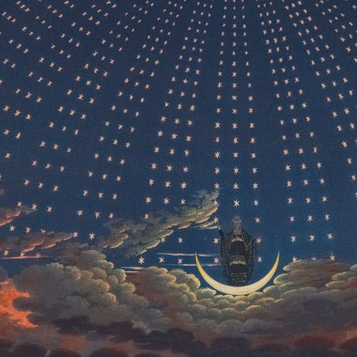 Karl Friedrich Schinkel 1816 Stage Designs for Wolfgang Amadeus Mozart's The Magic Flute.