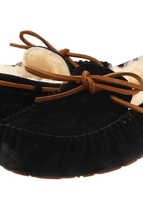 UGG Dakota (Black Suede) Womens Moccasin Shoes - UGG, Dakota, 5612,