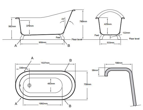25+ melhores ideias sobre Banheira vitoriana no Pinterest  Decoração vitoria -> Medidas Ideais Para Banheiro Com Banheira