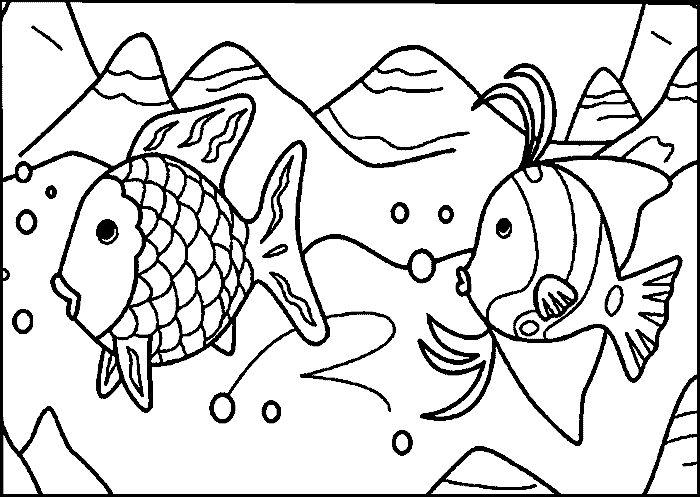 Charmant Regenbogen Fisch Färbung Seite Vorlage Zeitgenössisch ...