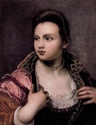 "Self portrait by Venetian painter Marietta Robusti, also known as ""la Tintoretta,"" (1554-1590), daughter of Italian painter Tintoretto. via figuration feminine"