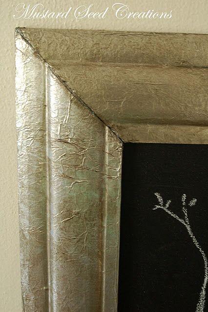 """""""Zinc"""" frame with aluminum foil & mod podge!"""