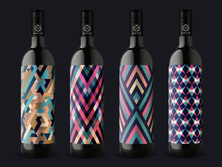 Motif Wine Bottles