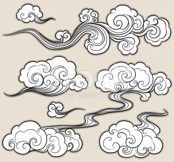 Nuage oriental cliparts vectoriels libres de droits