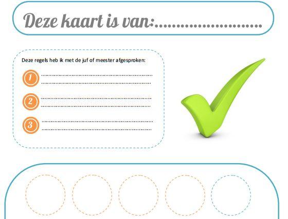 www.juf-lisanne.nl Beloningskaart voor kinderen van alle leeftijden.