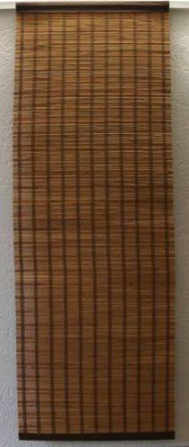 Bambus-Flaechengardine-Schiebevorhang-Paneelenvorhang-Kirsch-Braun-Groessenwahl