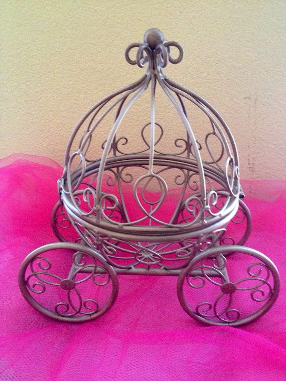Rose-Gold Cinderella Pumpkin Carriage - Cute Princess- Great for a Little Girl's Room or a Wedding Table Centerpiece