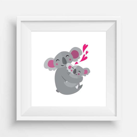 Baby Koala and Mumma by agirladrift on Etsy