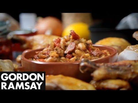 Stuffed Roast Chicken with Chorizo - Gordon Ramsay  #picsandpalettes   #chicken   #chorizo