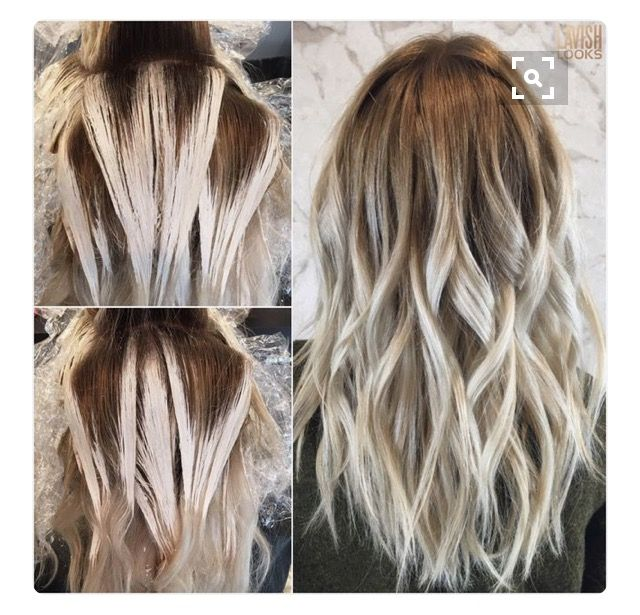 Colour placement balayage