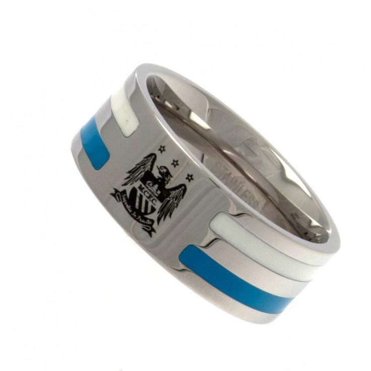 Stainless Steel Ring Colour Stripe Insert Size X In A Gift Box Official Licensed Product Product model: o38srcmcc