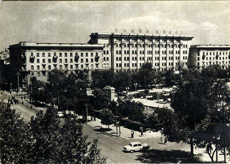 Вид на Ворошиловский проспект и площадь Советов.