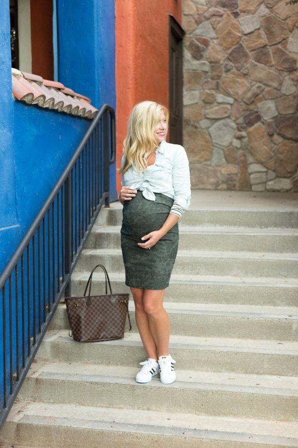 cc4a182a6d High Waisted Maternity Skirt Archives - The Leopard Coat