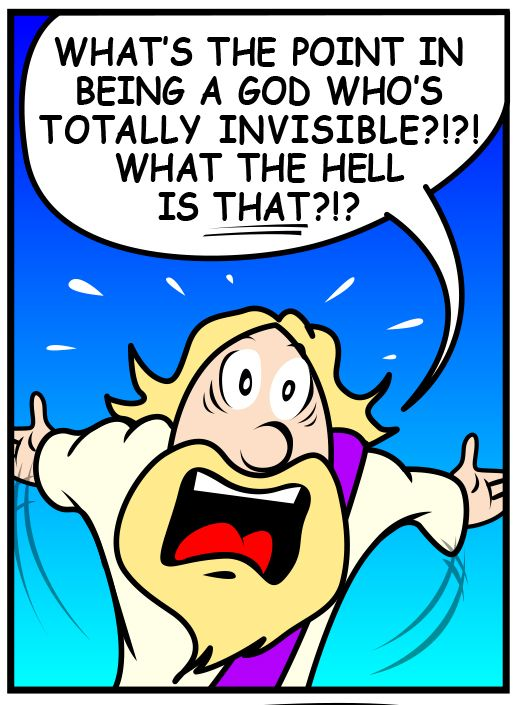 Struck me as funny on it's own. Satan's Salvation comic Ep. 231