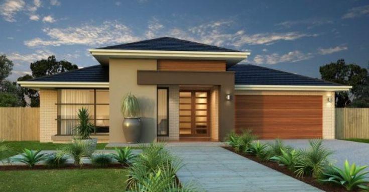 Casa moderna de um andar, duas fachadas e design de interiores   – casas modelos