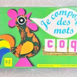 Jeu Je compose des mots  - Pauline et paulette la boutique vintage : www.paulineetpaulette.Fr