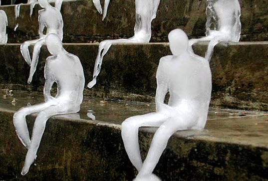 LETTERS FROM THE SKY: Site-specific Installation Artists on Climate Change (melting men)