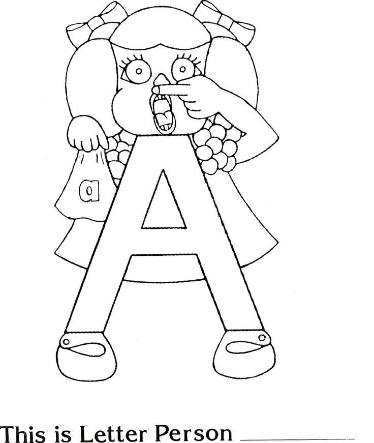 Brilliant Beginnings Preschool: Letter Person A Coloring Pages and Song