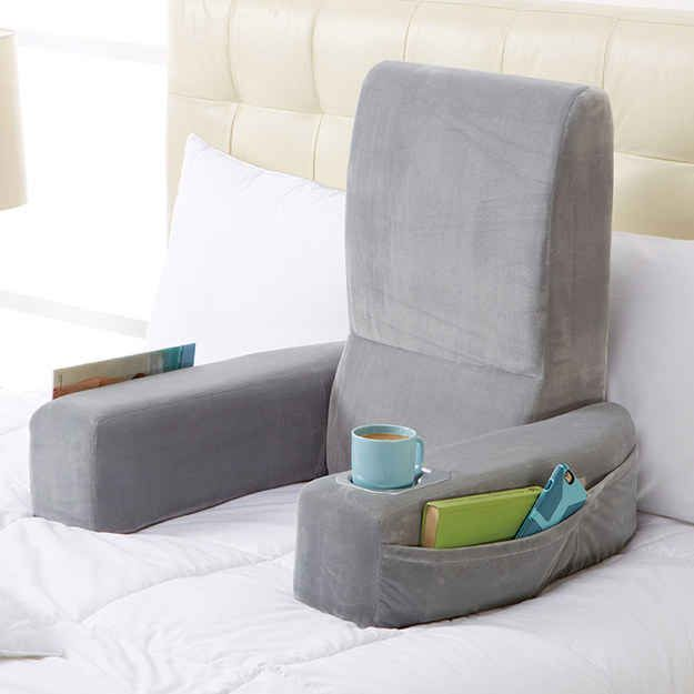 A pillow chair to make reading in bed even better. @lindseystotler @imhavnillusions, I found what I want for my birthday.
