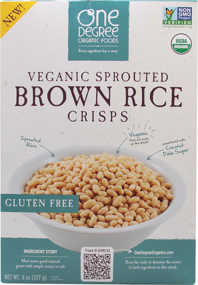 One Degree Organic Foods Sprouted Brown Rice Crisps Cereal