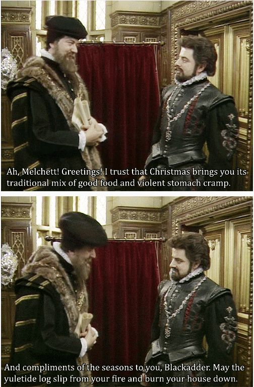 holiday greetings from Blackadder