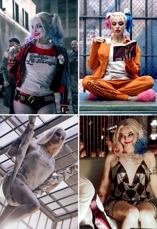 My love Harley Quinn movie costumes (some of them)
