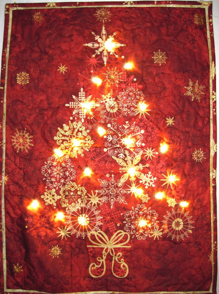 Wall Hanging Christmas Tree With Lights : 15 best images about Christmas wall hangings on Pinterest Trees, How to hang and Table runners