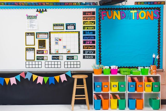 First Grade Made: Classroom Reveal- such pretty classroom pictures!!