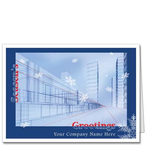 Architects Christmas Card | Seasonal Perspective. Construction DesignEngineersHoliday  ...