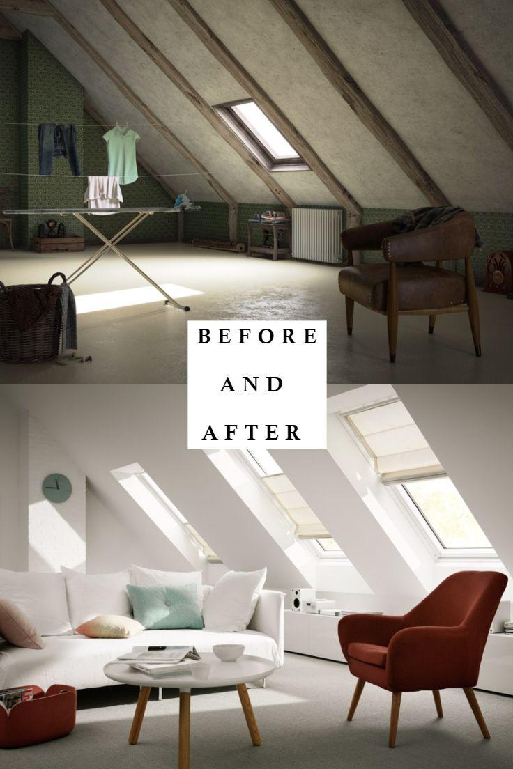 BEFORE and AFTER. Ein wunderschönes Wohnzimmer un…