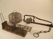 Twee muizenvallen en een rattenval - 1e helft 20e eeuw