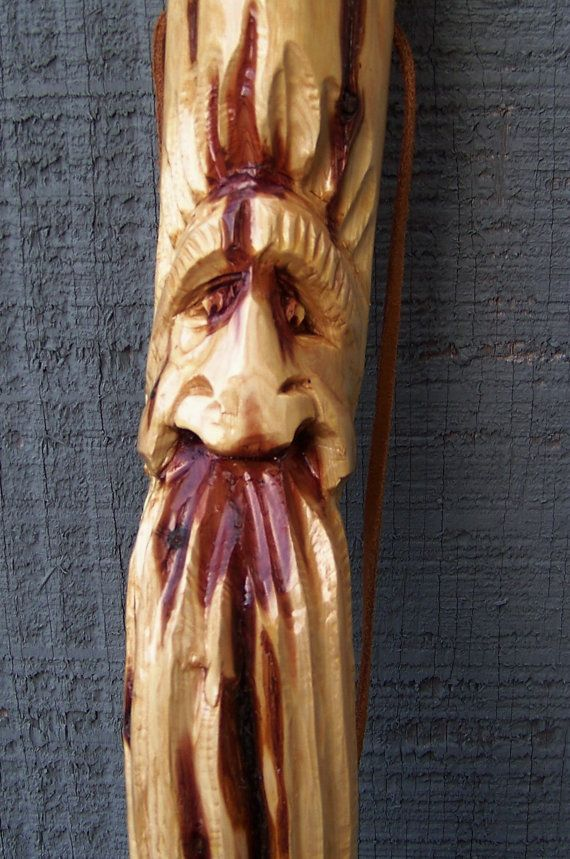 Hand carved walking stick carving faces pinterest