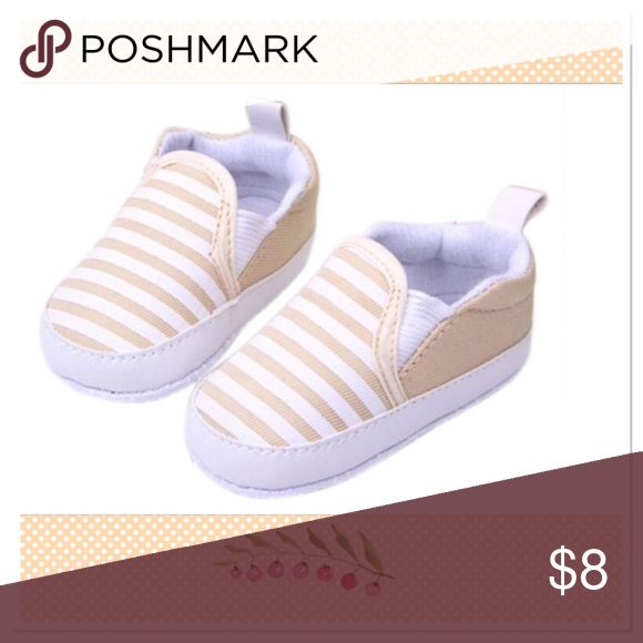 Toddler Anti-Slip Sneakers Toddler soft sole anti-slip khaki striped sneakers Boutique Shoes Sneakers