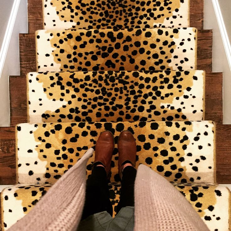 Leopard Stair Runner, Animal Print Carpet