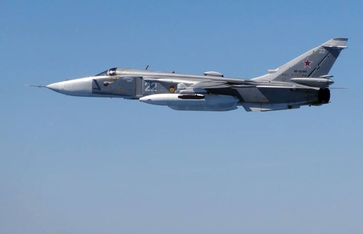 The Aviationist » Russian Su-24 Fencer attack plane performs multiple passes near U.S. warship in Black Sea