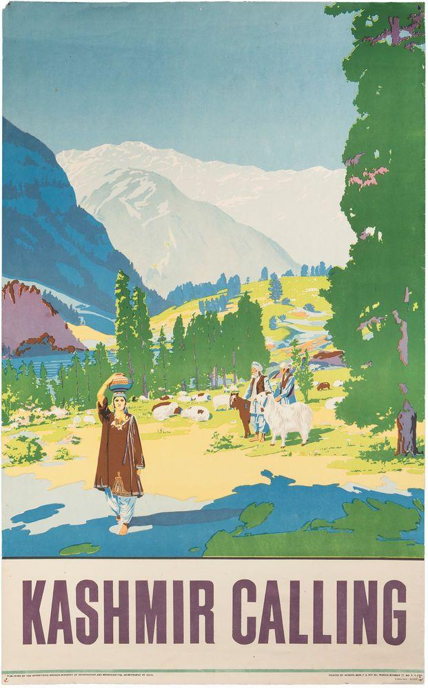 Kashmire Calling, Asian Travel Poster