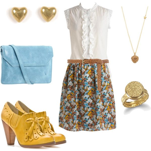 """Like everything but the shoes.    """"Snow White as Mary Margaret"""" by sparkleonandwearbows on Polyvore"""