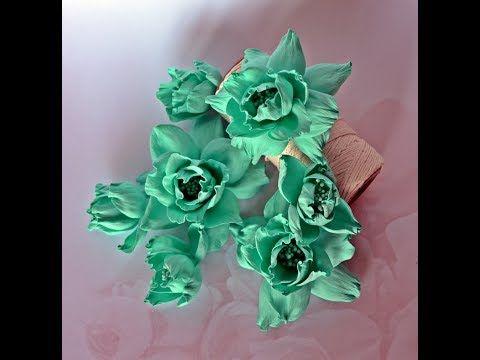 Kwiaty z foamiranu / Foamiran flowers  tutorial, scrapbooking - wykrojni...