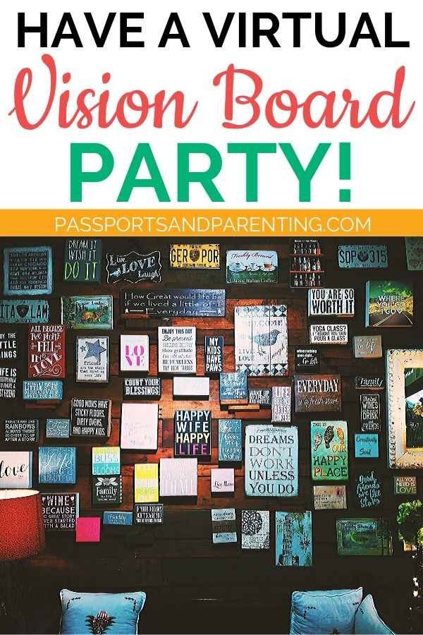 How To Have A Virtual Vision Board Party Vision Board Party Digital Vision Board Digital Dream Board