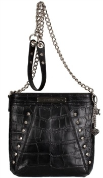 Women's Croco Crossbody Purse. Black. OC4429L-BLK
