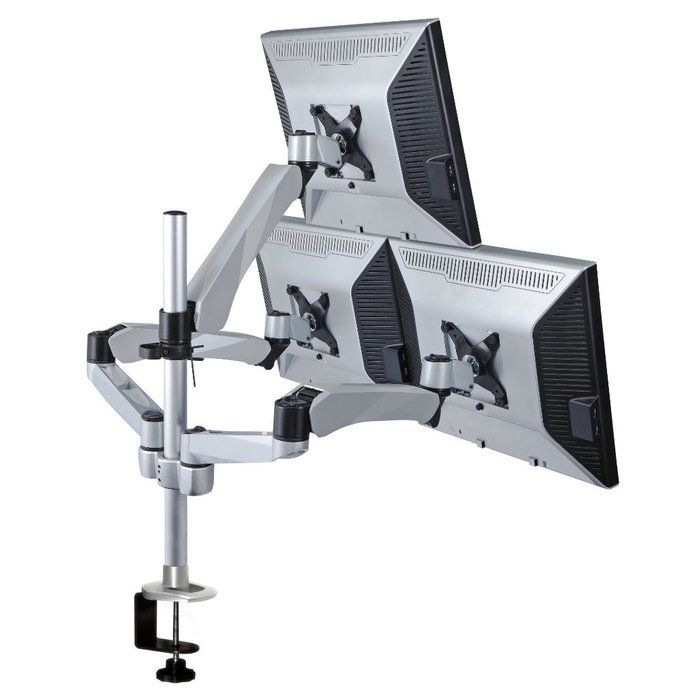 Height Adjustable 3 Screen Desk Mount Height Adjustable Monitor Mount Monitor