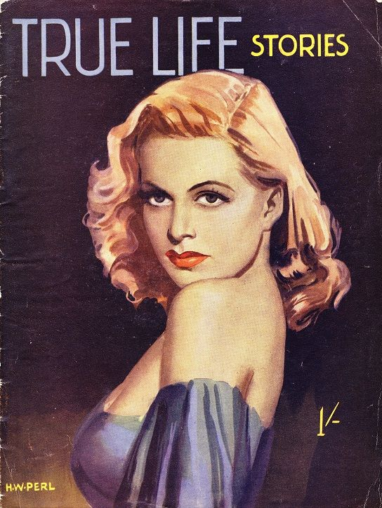 """""""True Life Stories"""" (Hamilton & Co.) Stunningly gorgeous cover art by H. W. Perl ... This, stylistically, is my favourite Perl illustration"""