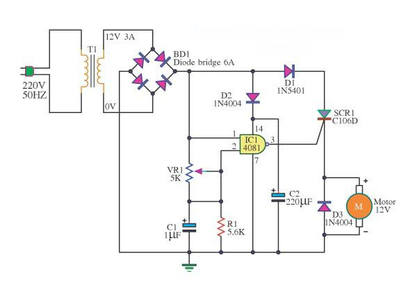 motor speed circuit diagram and motors on pinterest