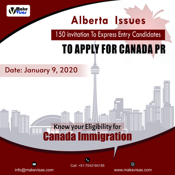 Alberta invites 150 express entry candidates in the recent