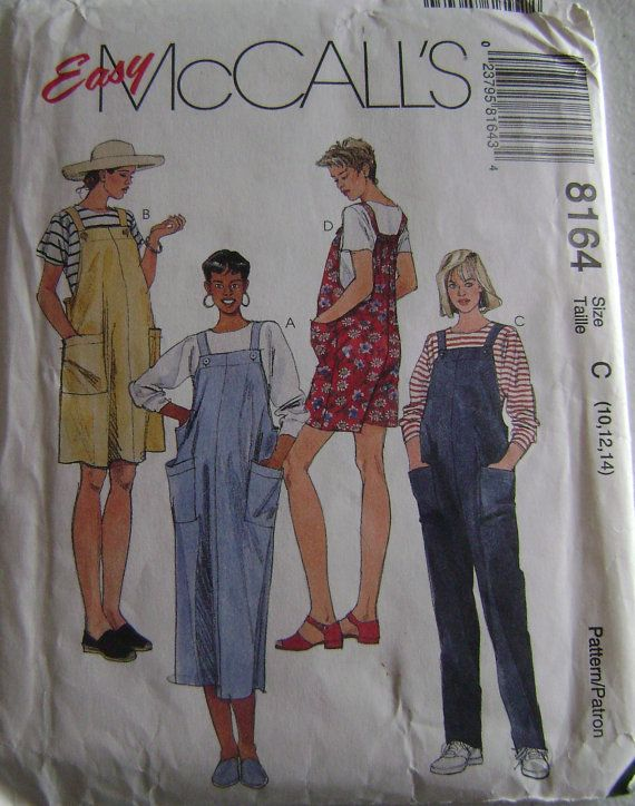 VINTAGE McCall's Pattern M8164 Maternity Jumper in by GGselections