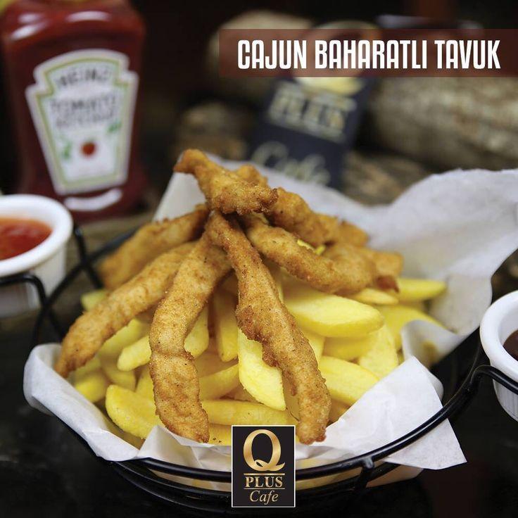 Bol patates yanında nefis Cajun baharatlı tavuğa ne dersiniz? 🙂 Q Plus'a bekliyoruz... #Qpluscafe #Cajun #Tavuk #ÖğleYemeği
