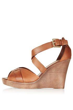 Chaussures croisées à talons compensés WHIPPIE