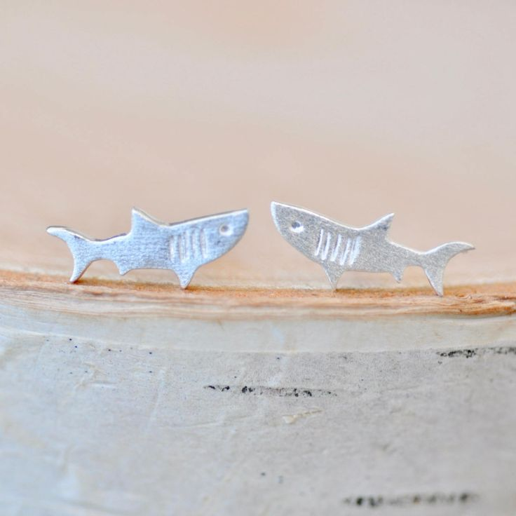 Excited to share the latest addition:   Shark Earrings!   http://etsy.me/2D0d6K4