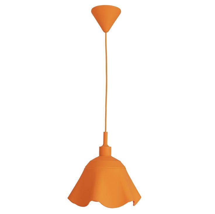 LAMPA wisząca SILICON PENDULUM 6069898 Nave silikonowa OPRAWA nowoczesny ZWIS do pokoju dziecięcego pomarańczowy
